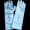 Light blue princess gloves