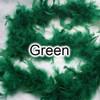 Green feather boas