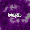 Purple feather boas