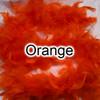 Orange feather boas