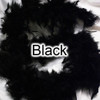 Adult black chandelle feather boas