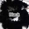 Adult black chandelle feather boas