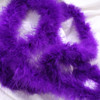 Purple marabou feather boas