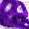 Purple marabou feather boas