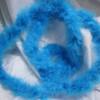 Light blue marabou feather boas