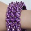 Lavender spiked bracelets
