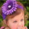 Baby with Gerbera daisy headband