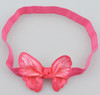 Hot pink butterfly headbands