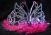 Hot pink butterfly tiara