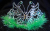 Lime butterfly tiara
