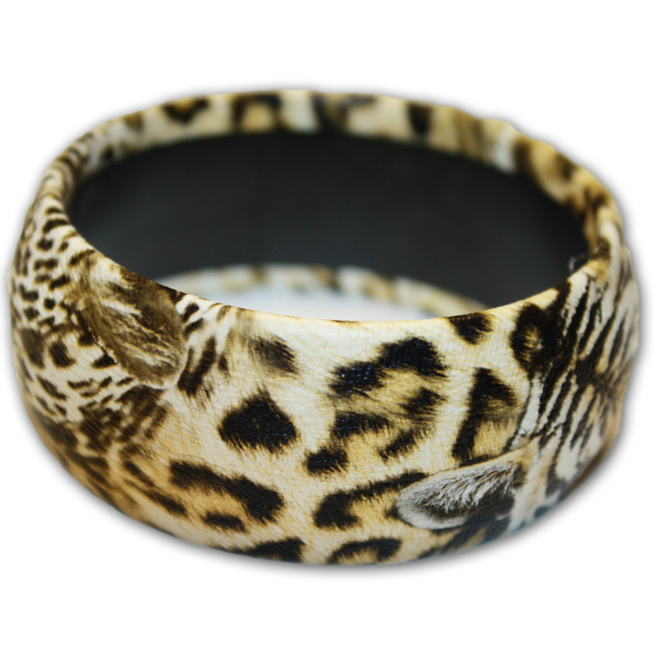 Brown animal print bracelet.
