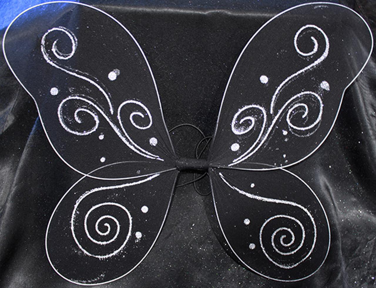 Black butterfly wings