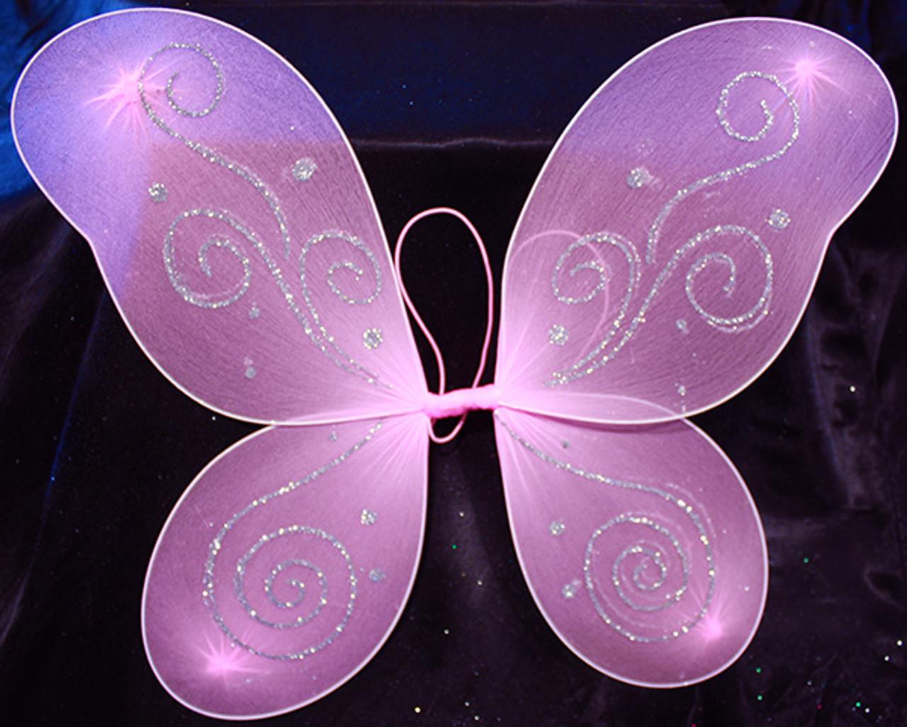 Pink butterfly wings