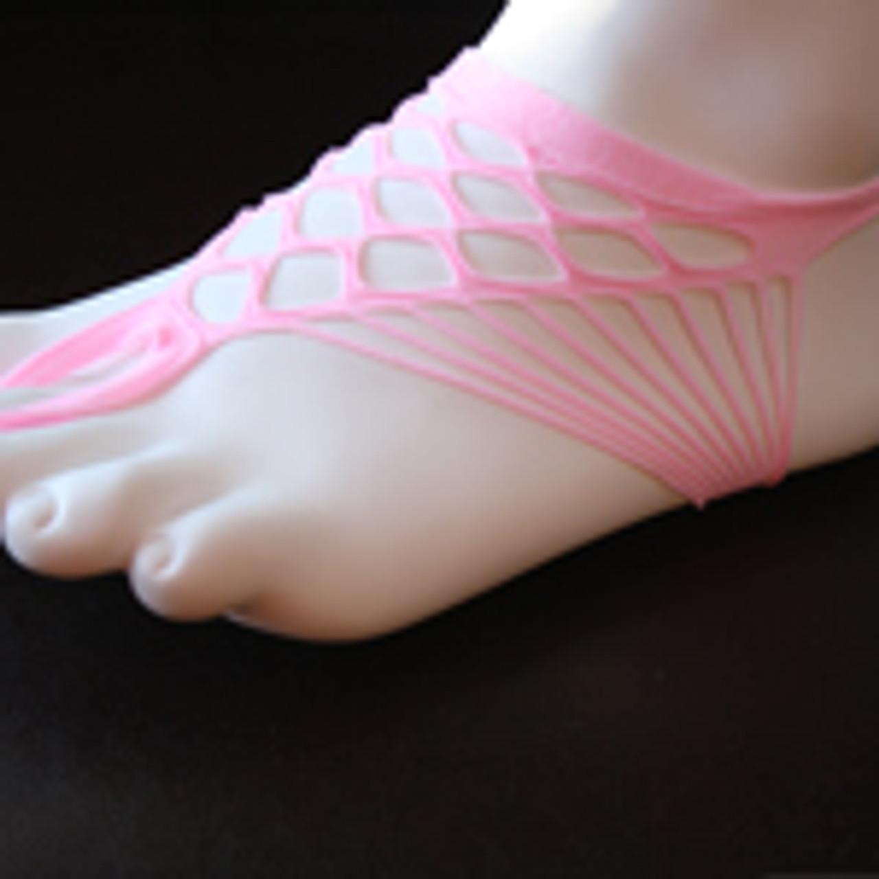 Pink cloth barefoot sandal.