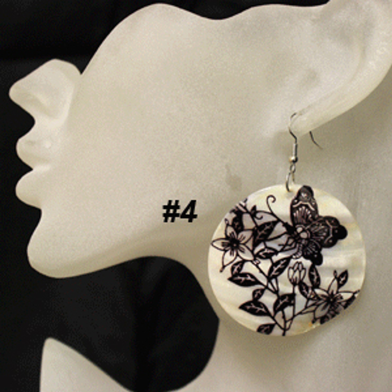 Cheap butterfly shell earrings