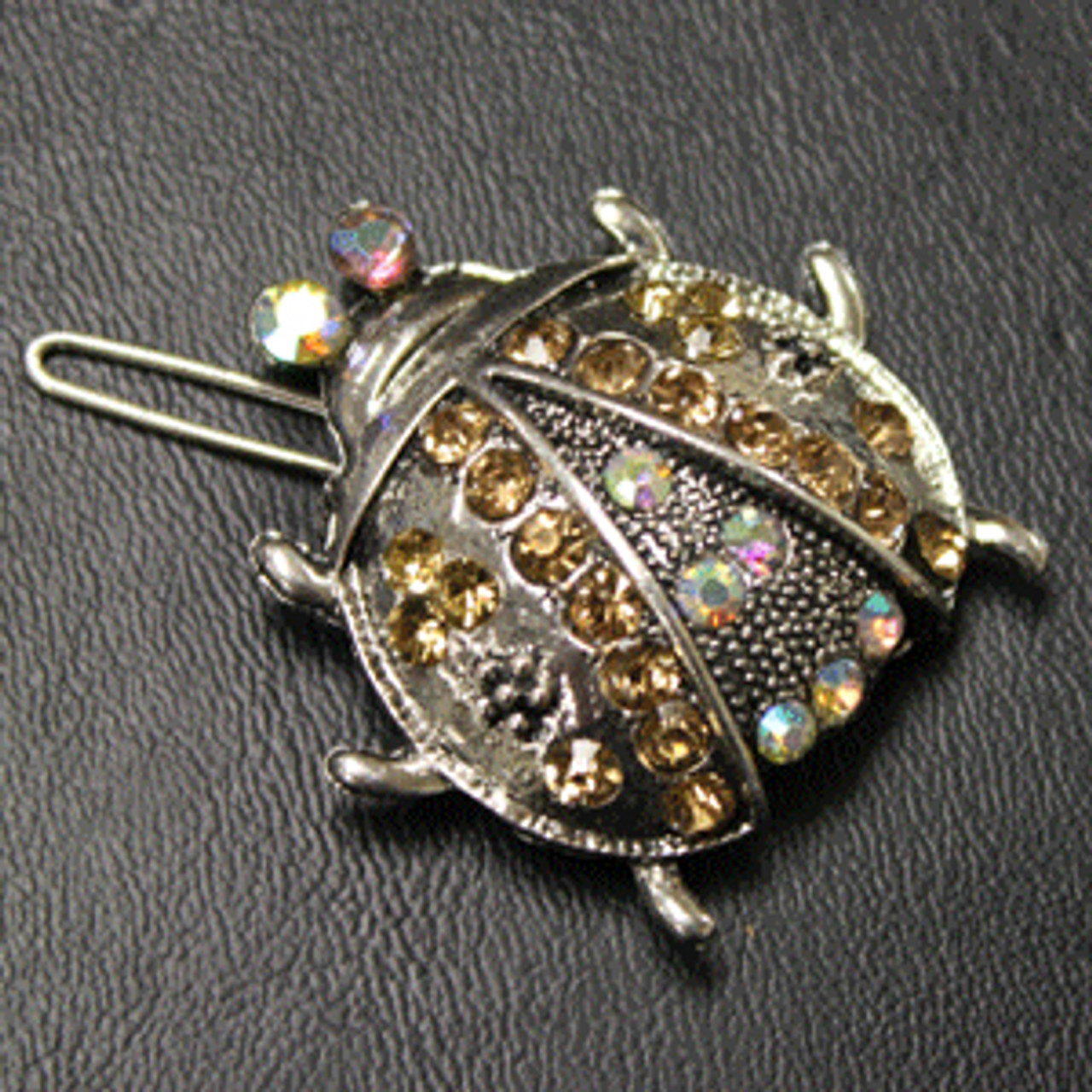 Gold beetle hair clip