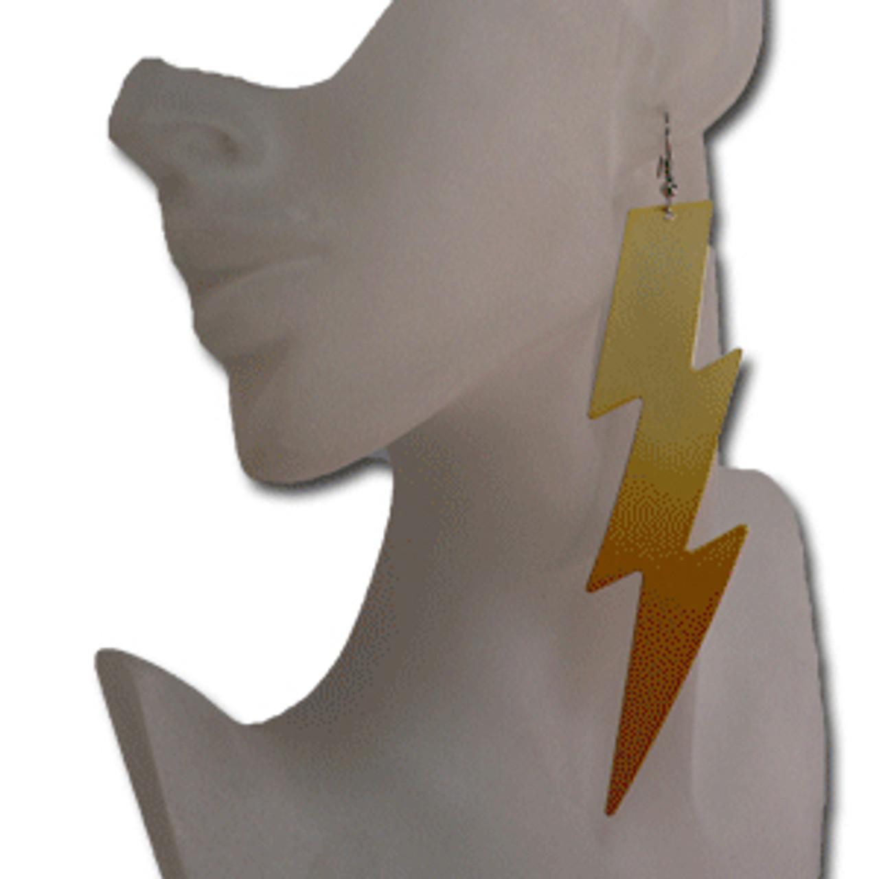 Long lightning bolt earrings