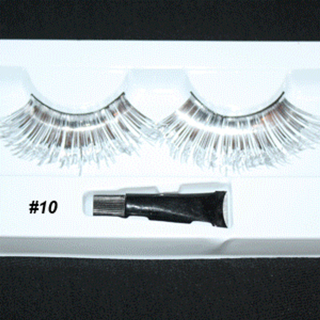 #10 Long silver tinsel eyelashes