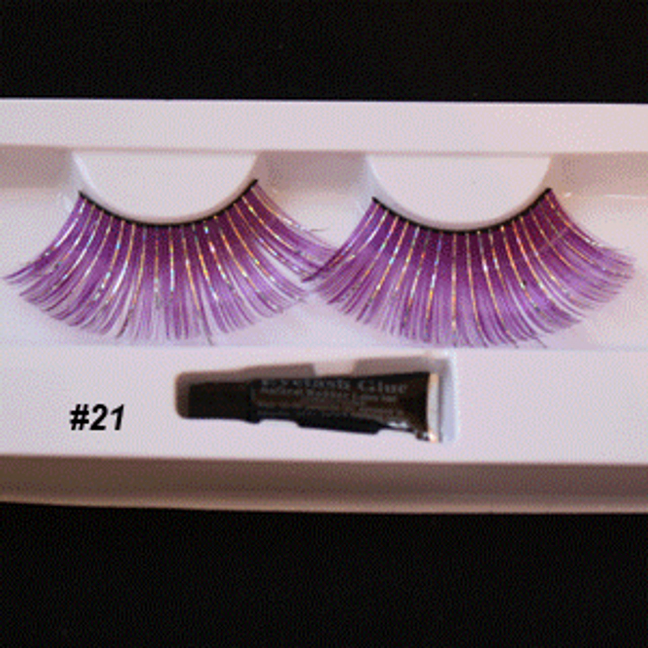 #21 PURPLE Fake eyelashes