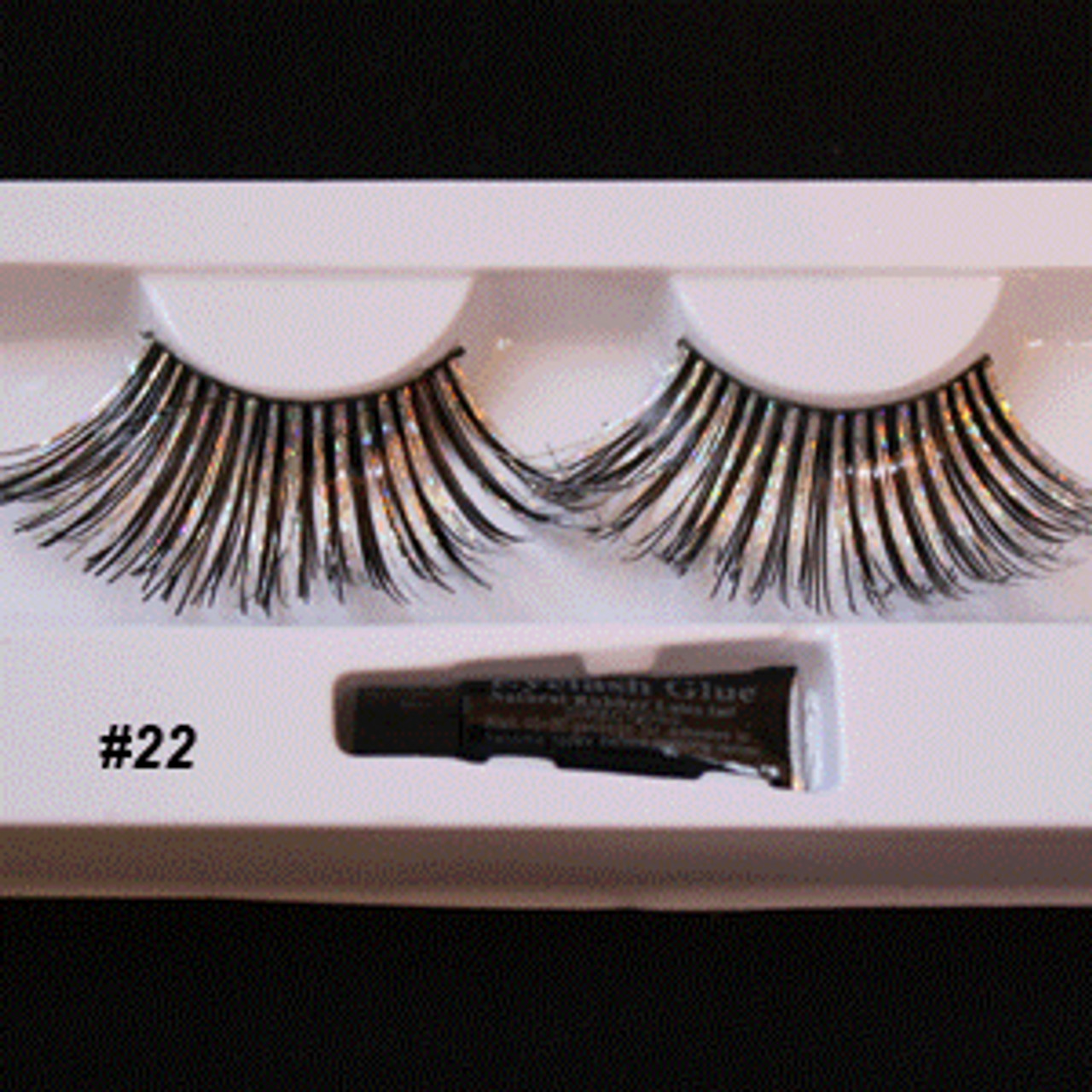 #22 Long Zebra Fake eyelashes