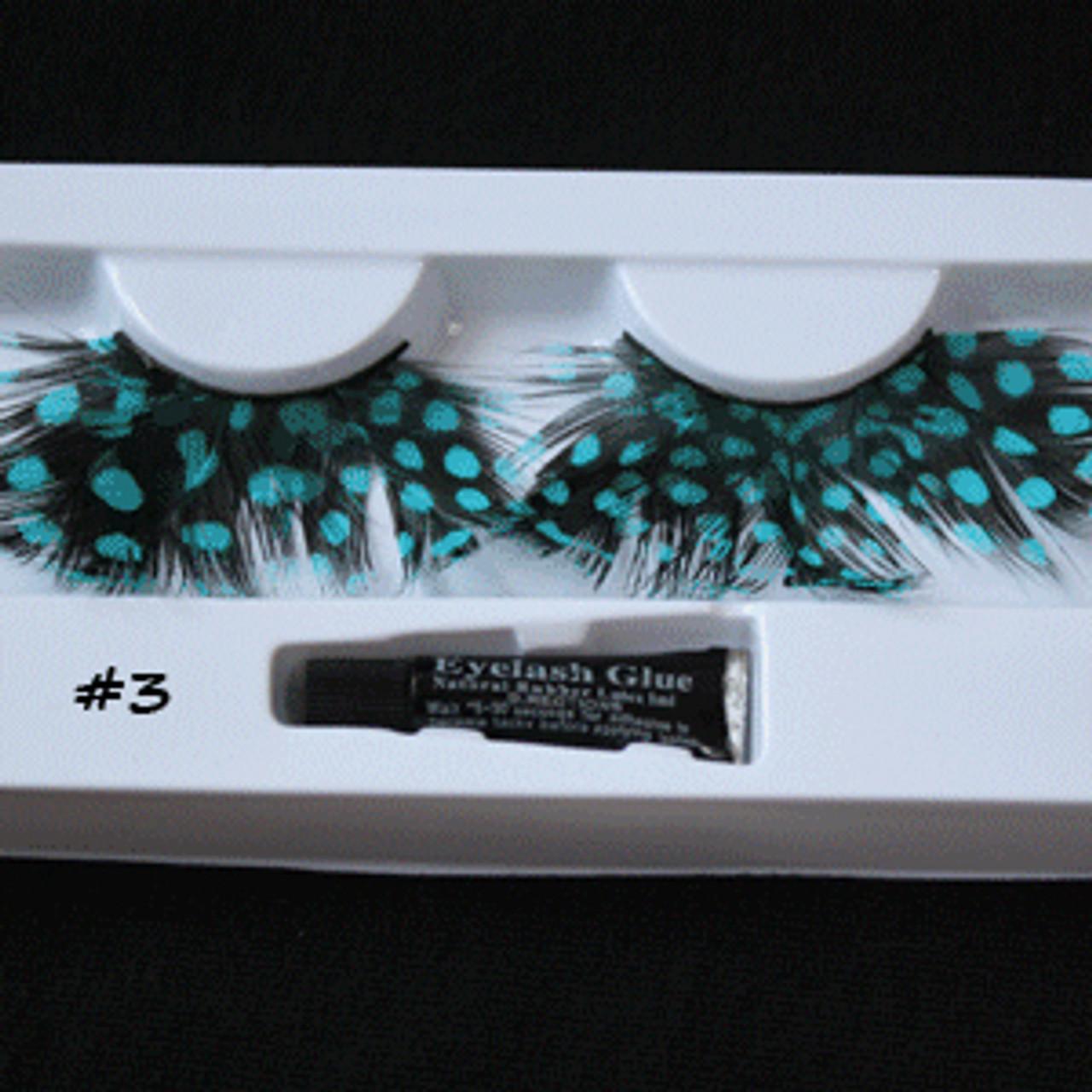 #3 Turquoise dots feather eyelashes