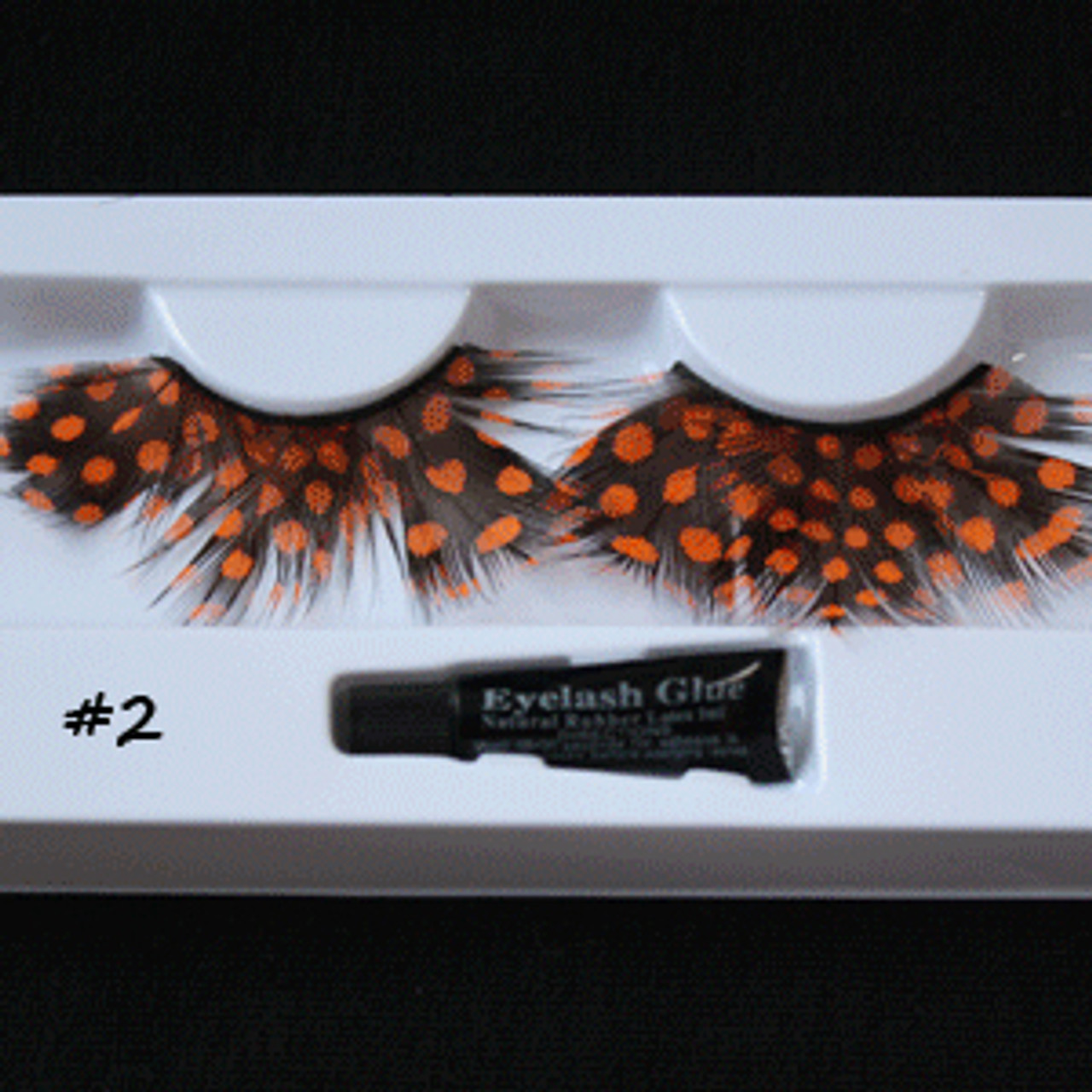 #2 Orange dots feather eyelashes