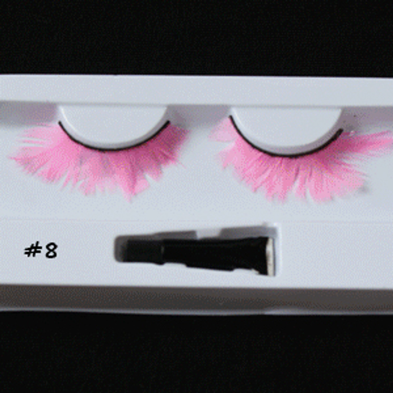#8 Light pink feather eyelashes