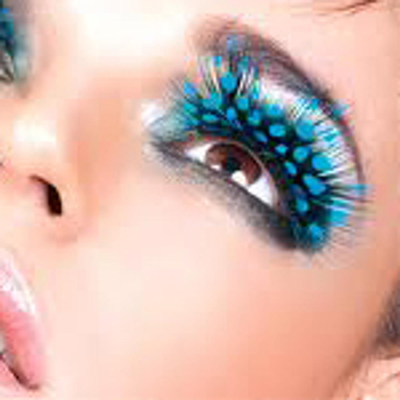 Fake feather eyelashes