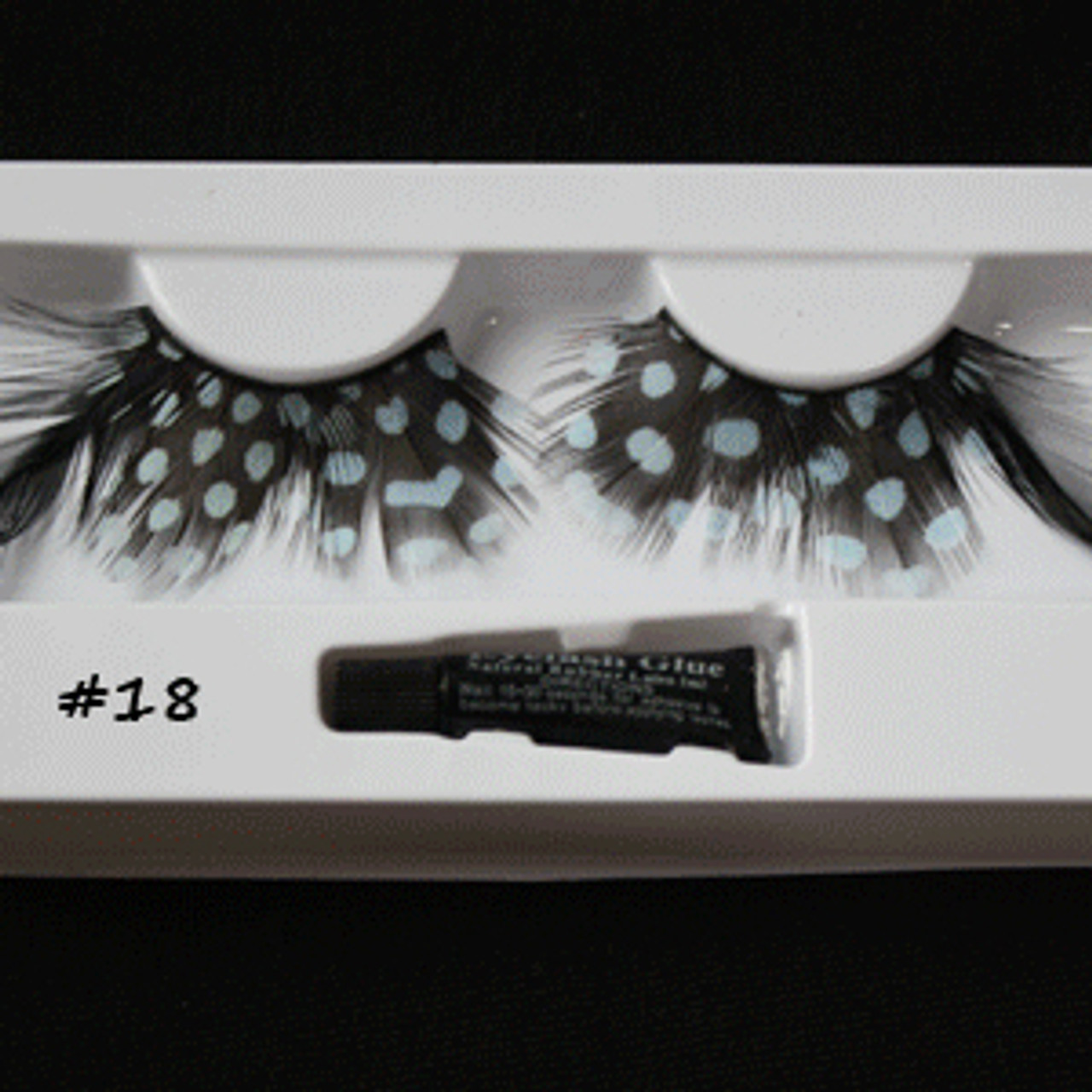 #18 Blue dot feather eyelashes