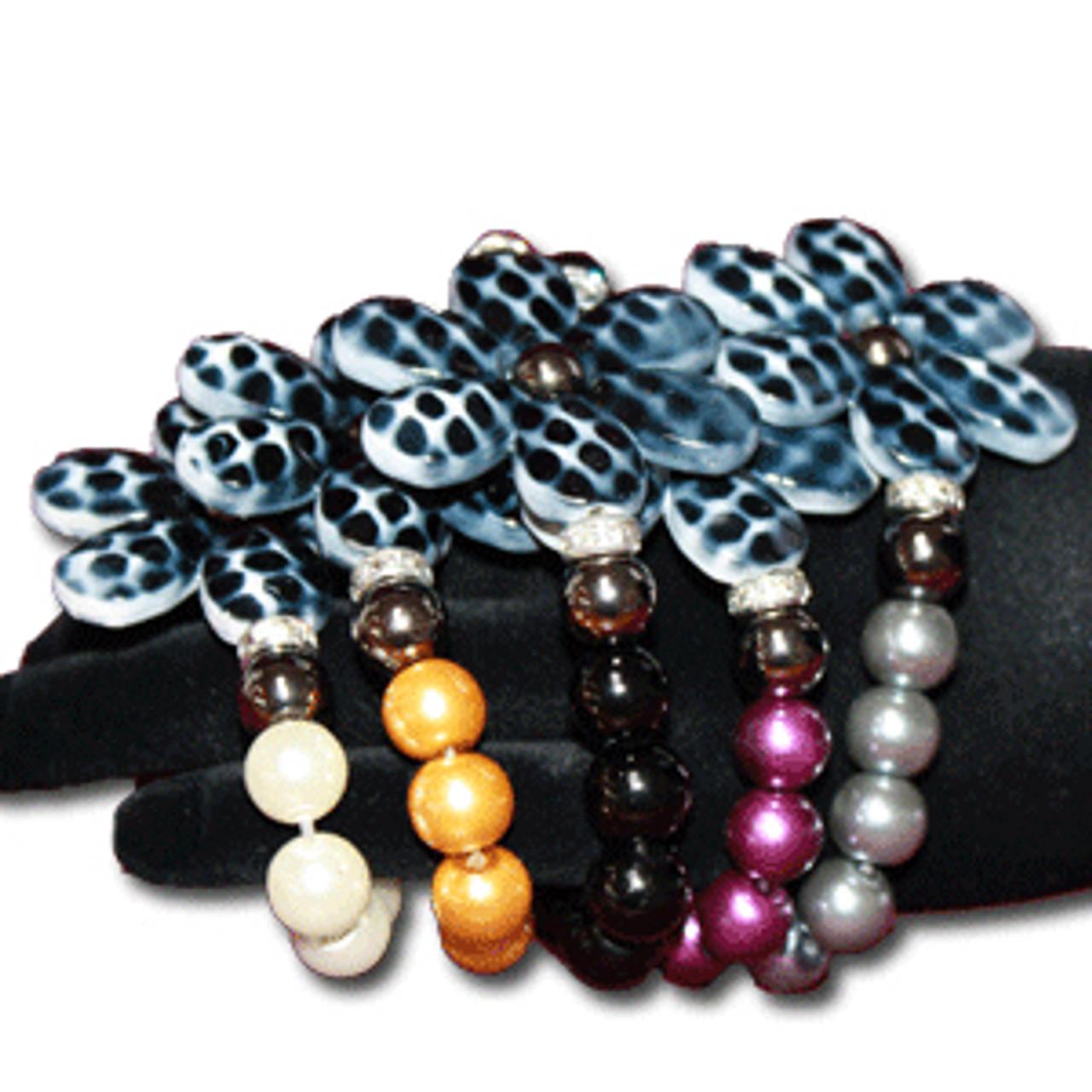 Wholesale flower pearl bracelet