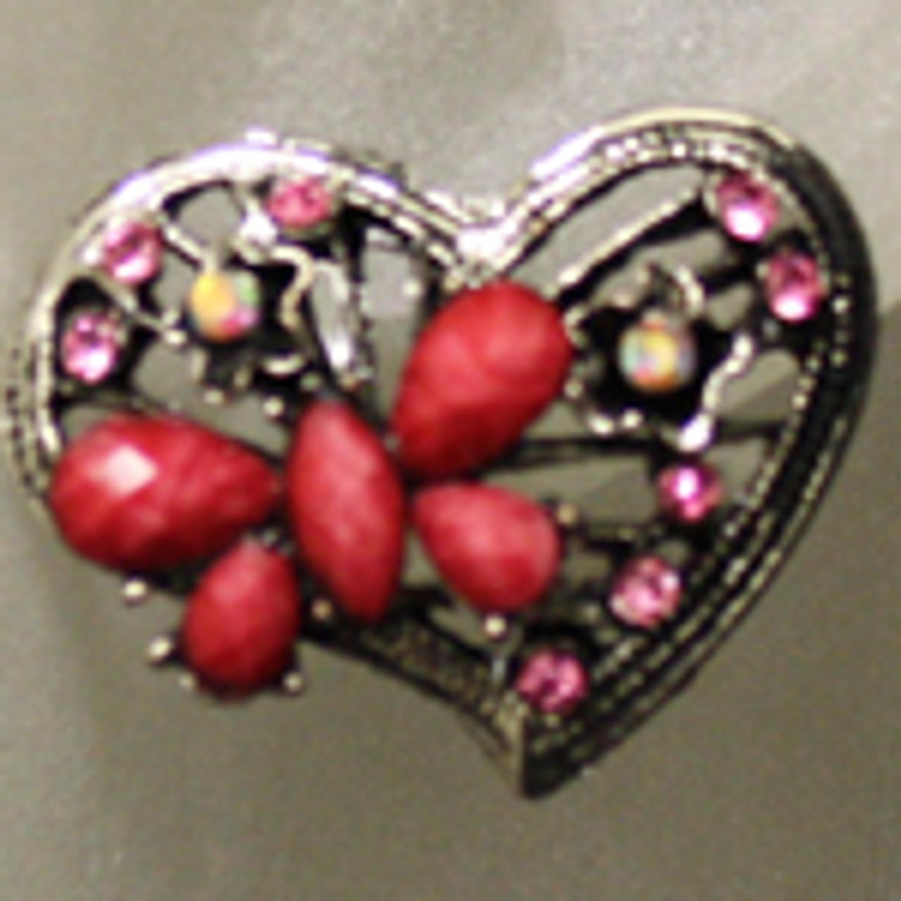 Wholesale heart butterfly stud earring