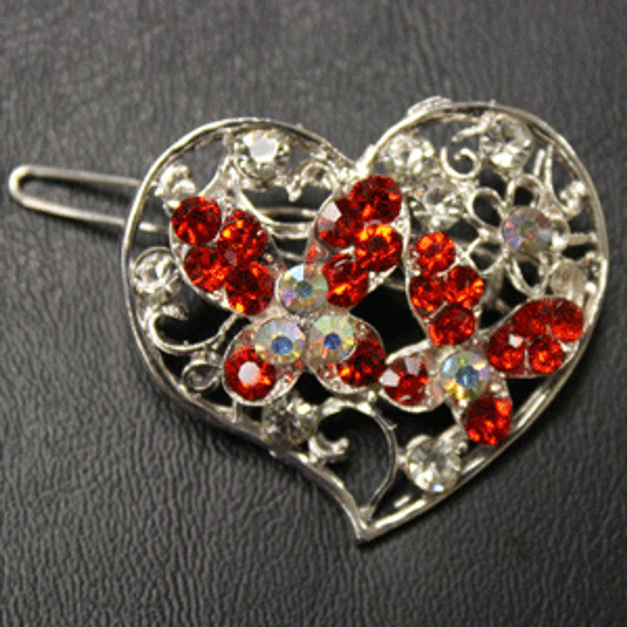 Red heart barrette