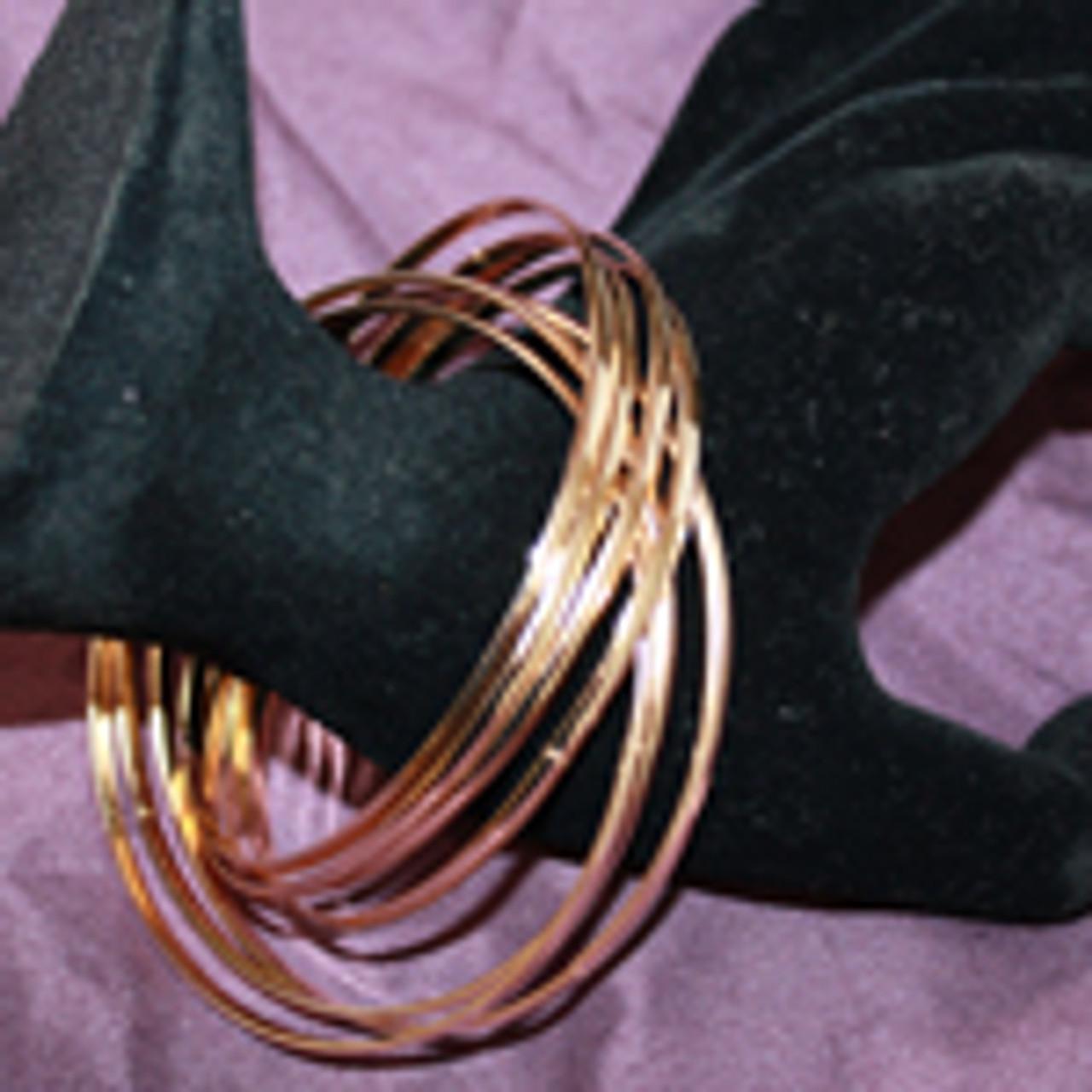 Gold linking bangle bracelets