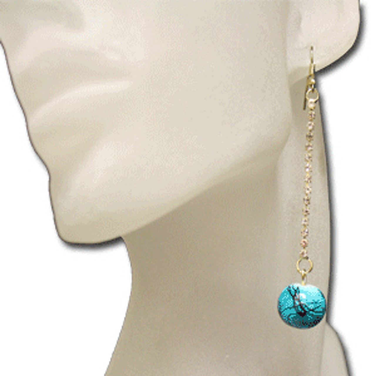 Aqua marble earrings