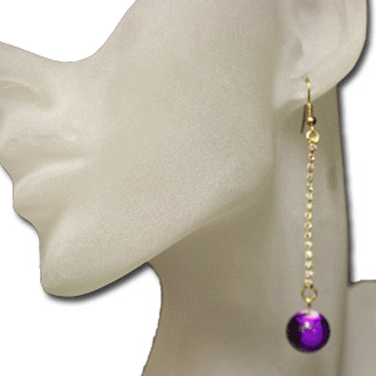 Purple marble earrings