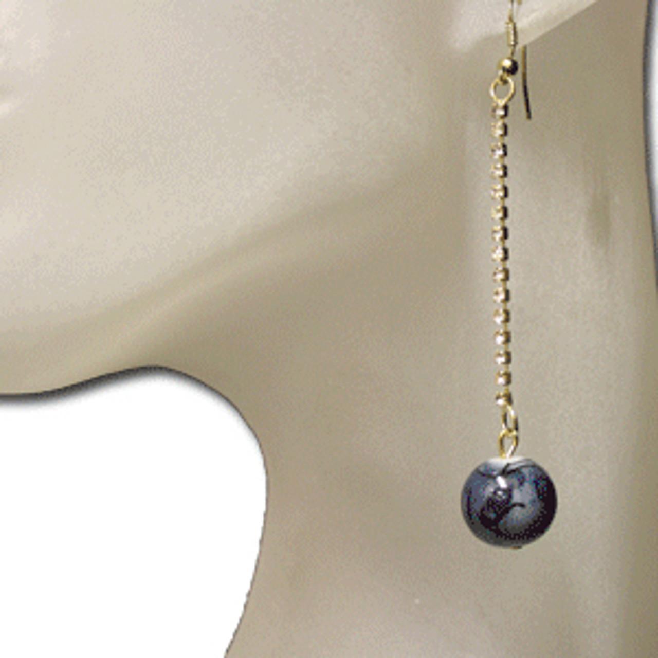Smoke marble earrings