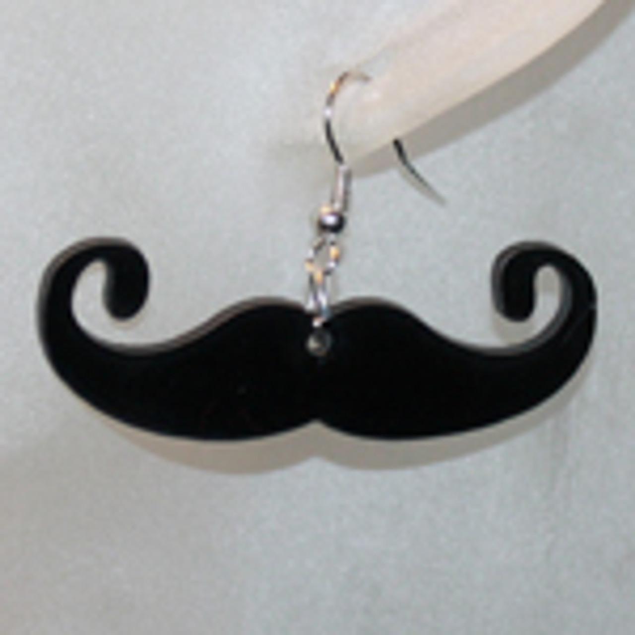 Cheap mustache earrings