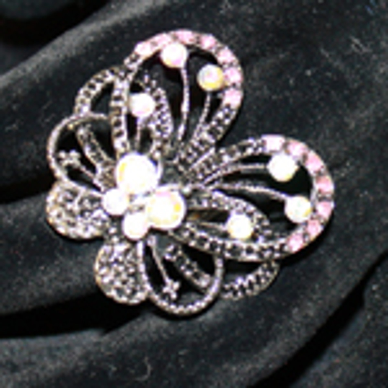 Open butterfly ring
