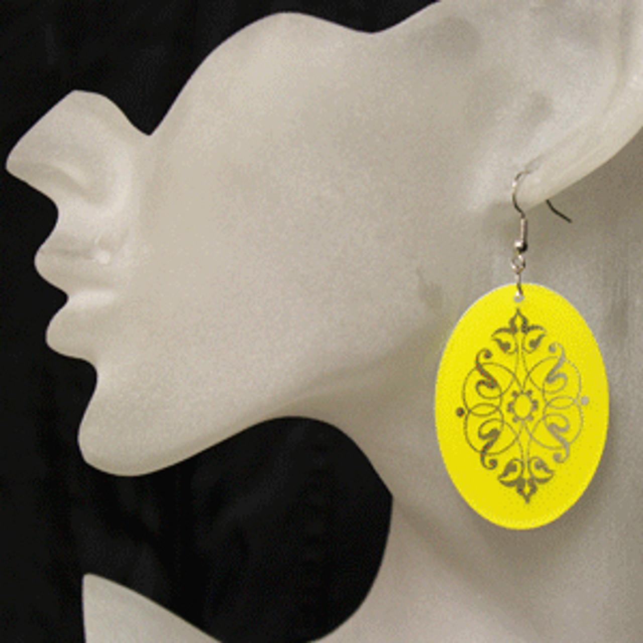 Yellow earrings