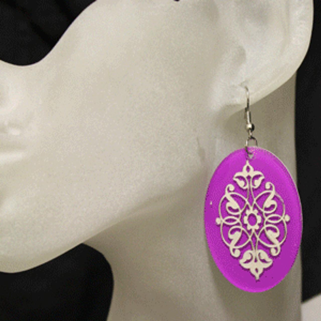 Purple earrrings
