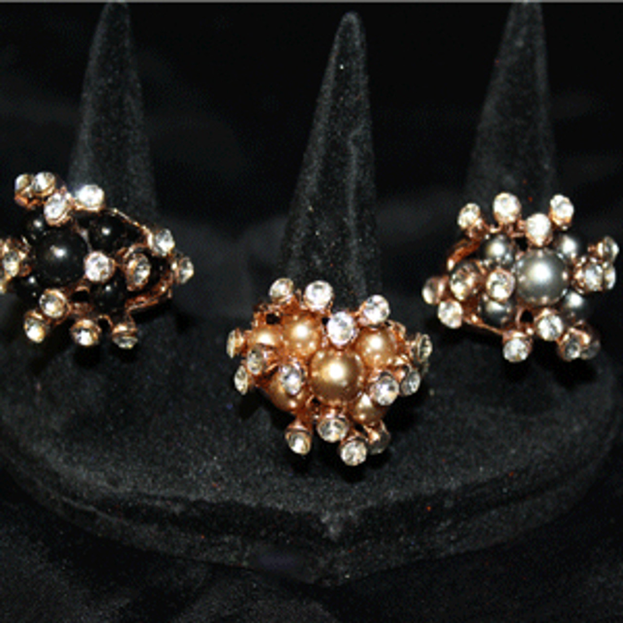 Pearl cocktail rings