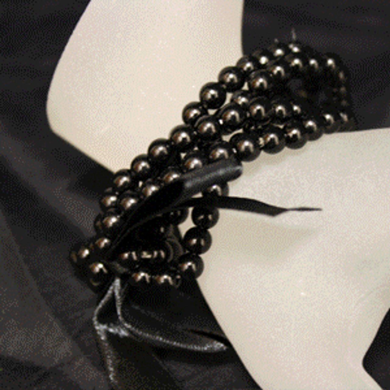 Black kids pearl bracelet