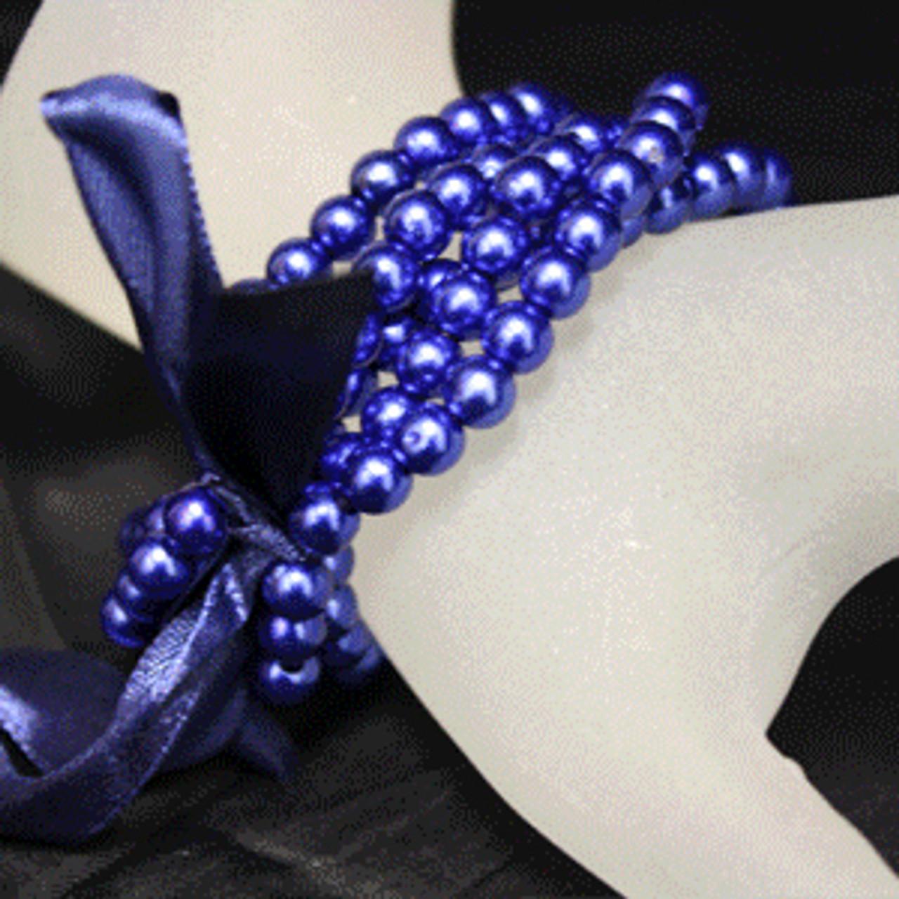 Blue kids pearl bracelet
