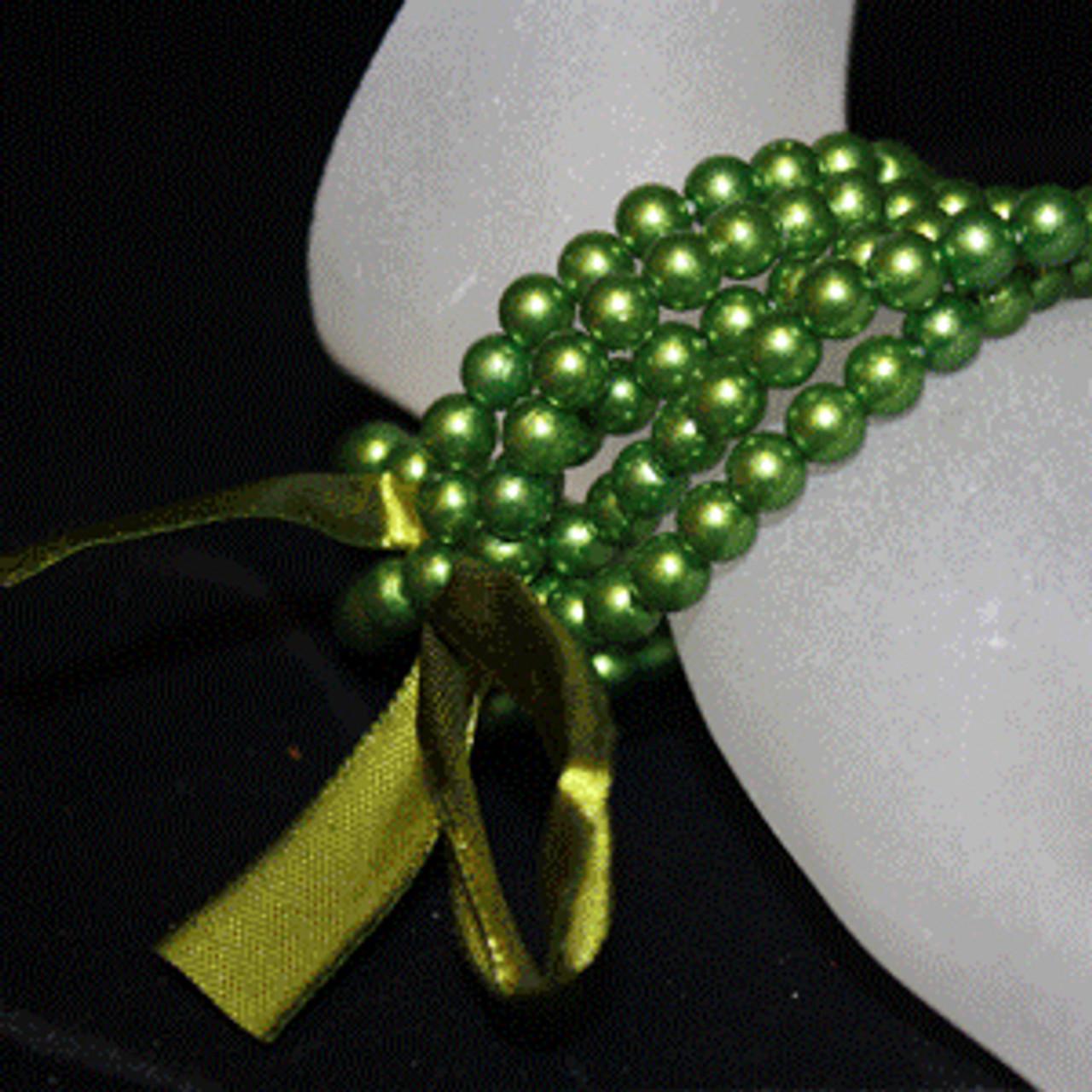Green kids pearl bracelet