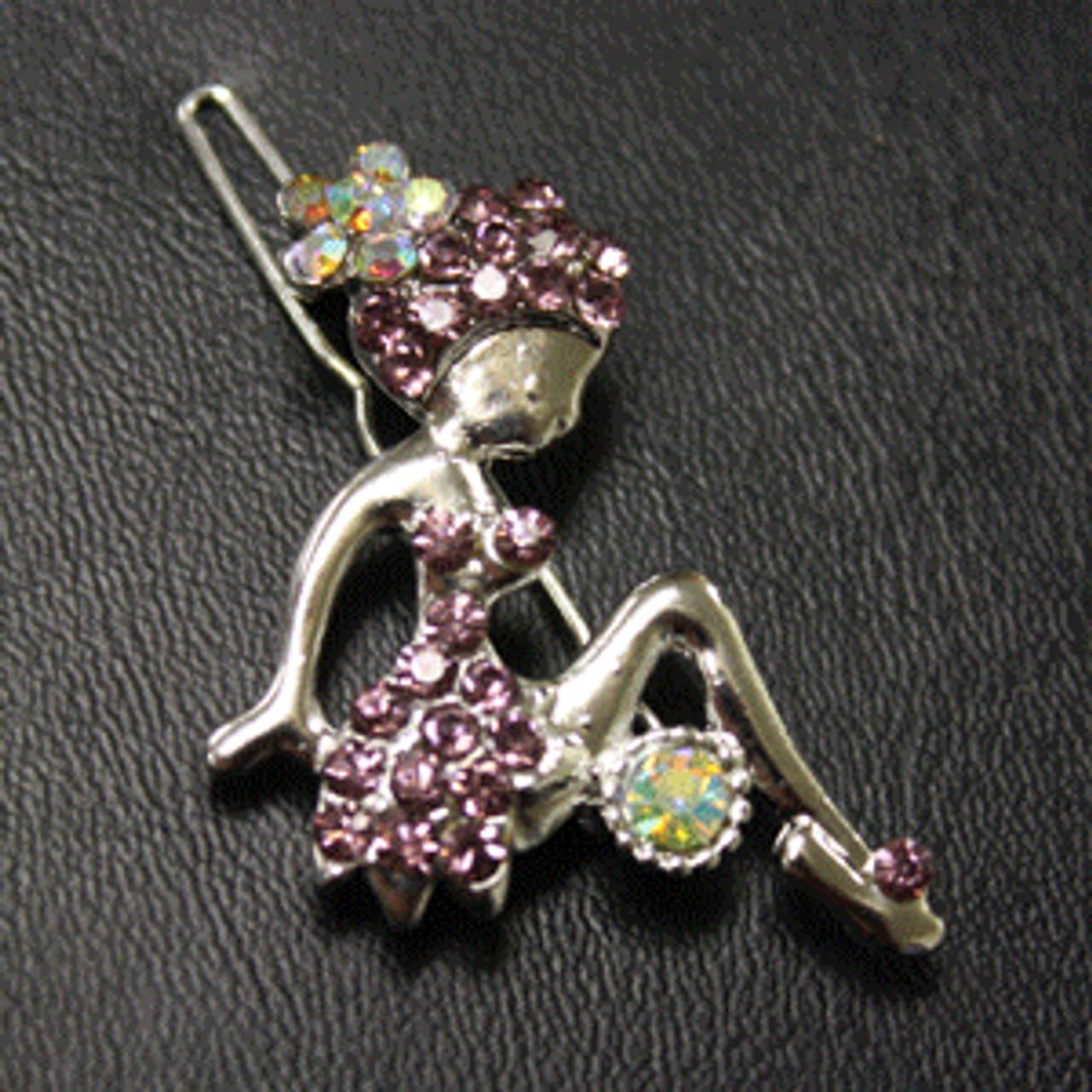 Pink fairy hair clip