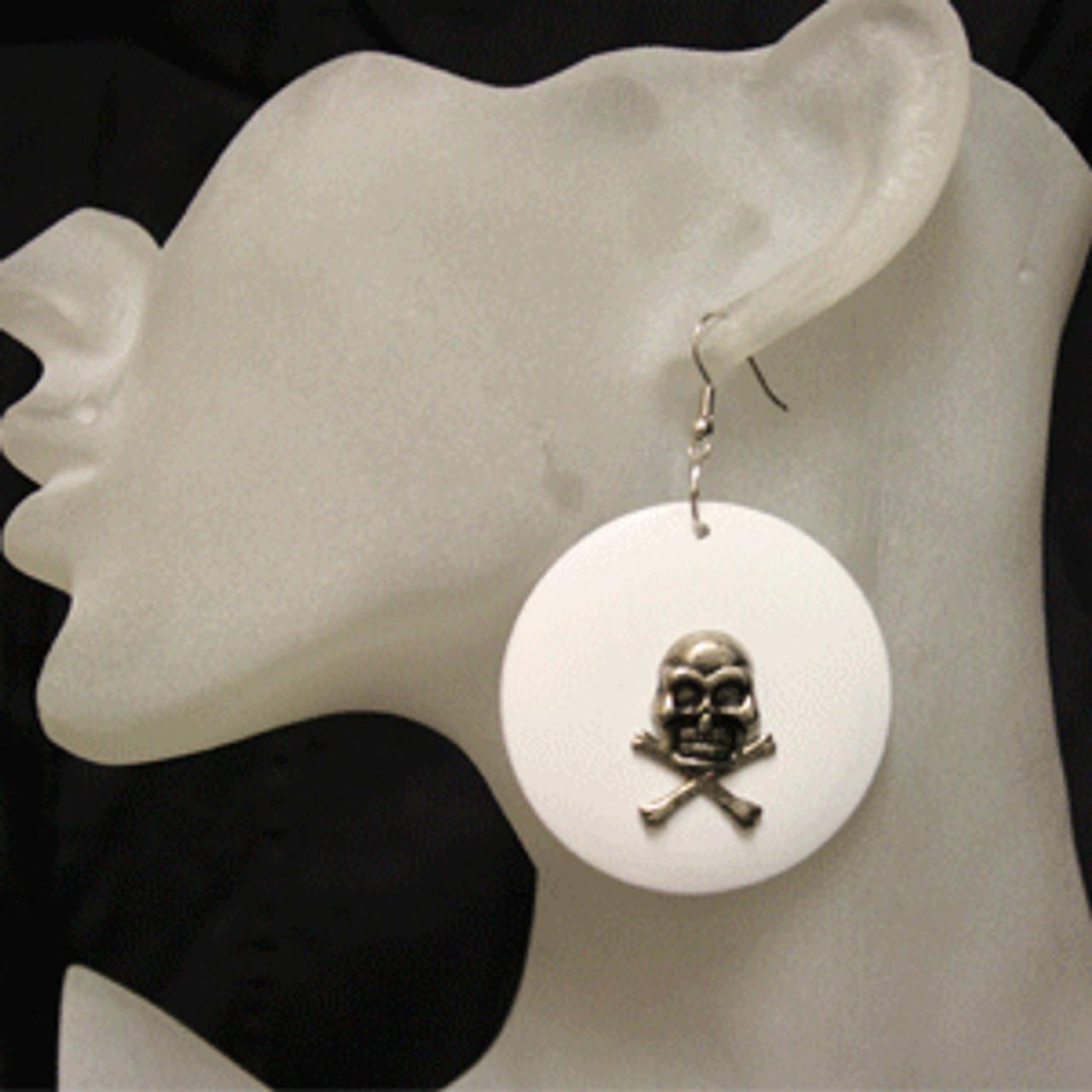 White skull rings