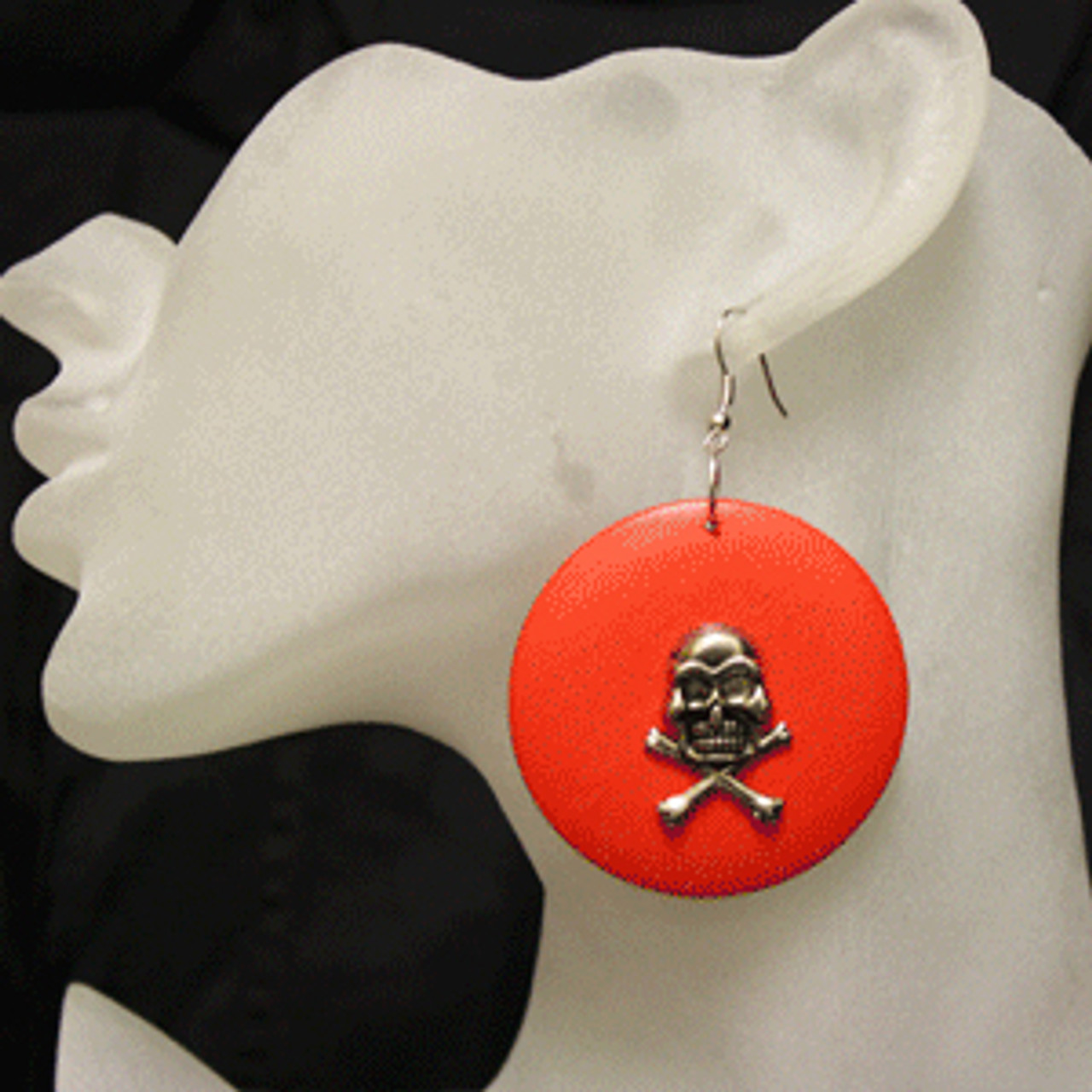 Orange skull rings