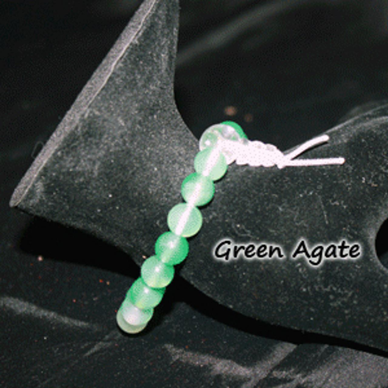 Green agate stone bracelets