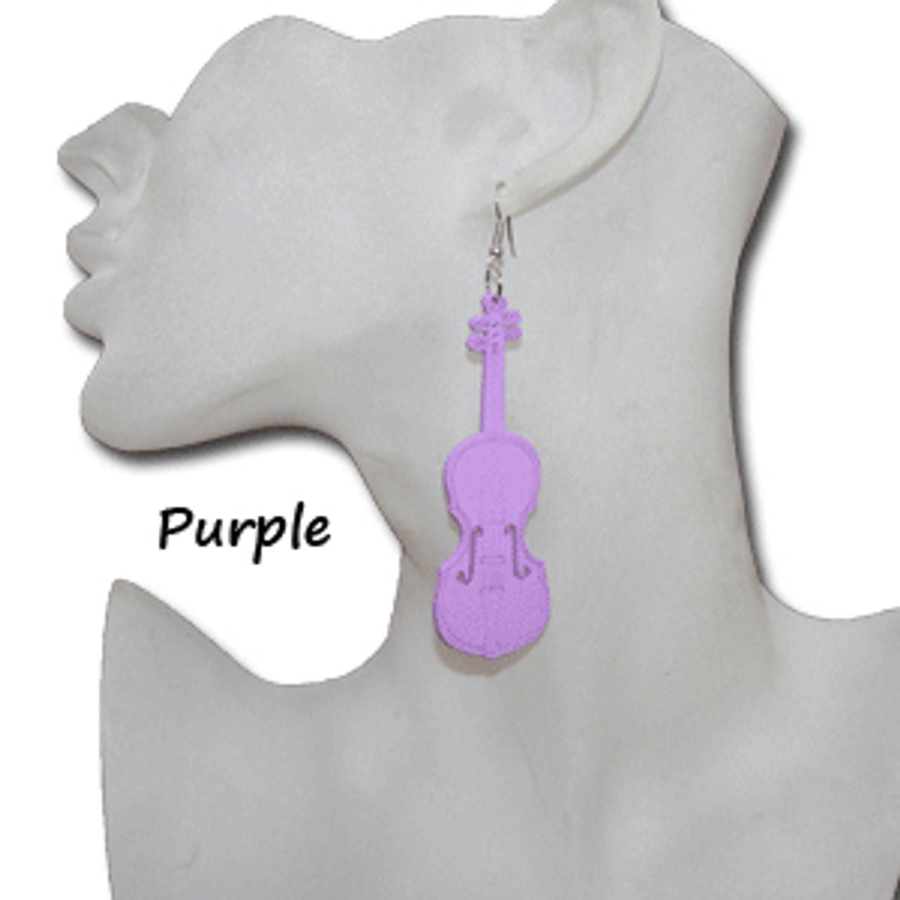 Musical instrument earrings
