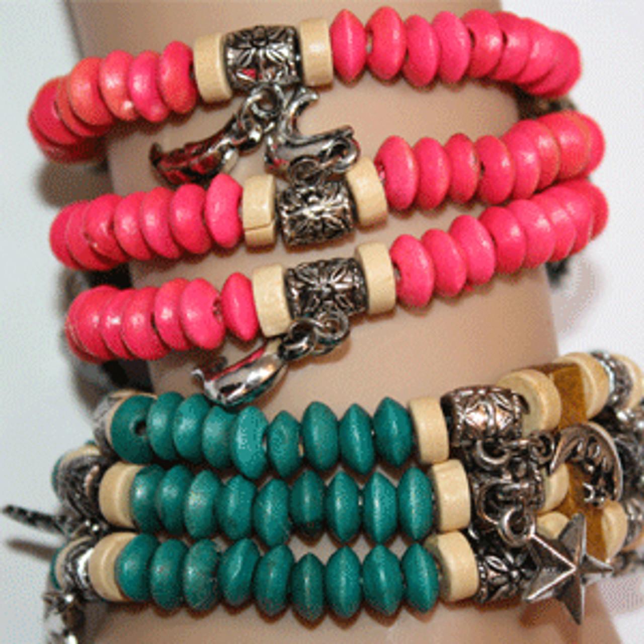 Wholesale bead charm bracelet